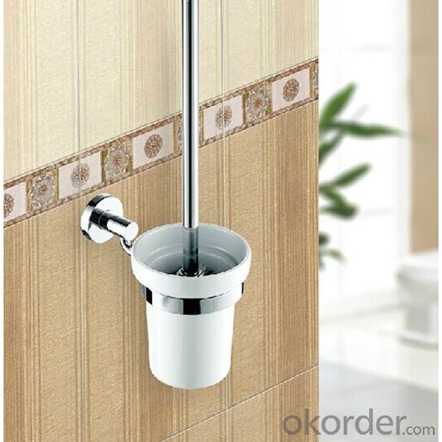 2014 New Style Bathroom Accessories Solid Brass Toilet Brush Holder