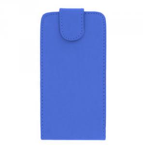 Luxury PU Leather Flip Case Cover for Samsung Galaxy S4 (I9500) Blue