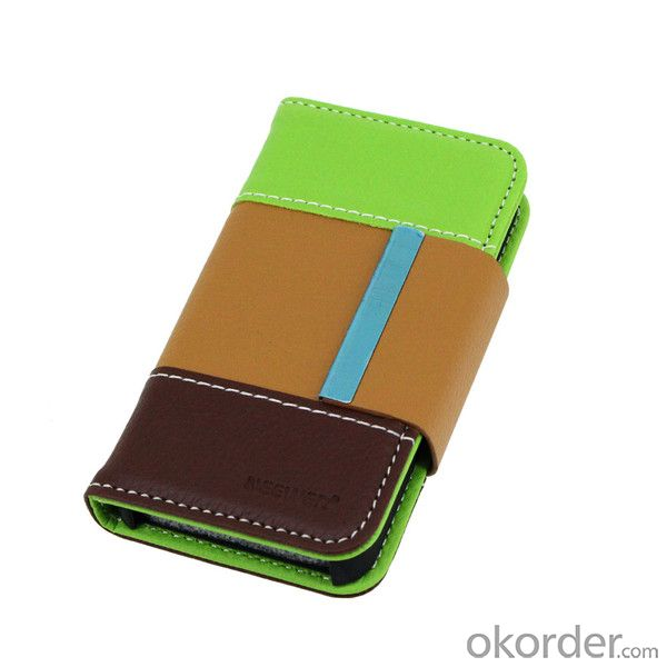 For iPhone 5 5S 5G 5GS Hot Selling Luxury Wallet Case With ID Credit Card Slot Holder Multi Colors Faux Cow Leather