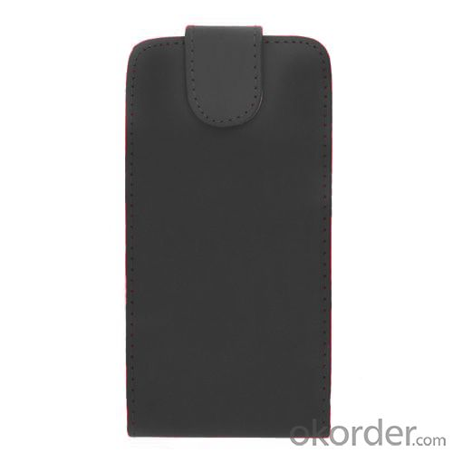 Luxury PU Leather Flip Case Cover for Samsung Galaxy S4 (I9500) Black