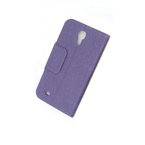 Front Hollow Luxury PU Leather Case Cover for Samsung Galaxy S4 (I9500) Purple