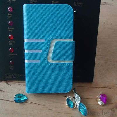 2014 Hot Sale For iPhone 5 5s 5g 5gs Cross Pattern PU Leather Wallet Case Cover With Magnetic Flip Closure Blue All Colors