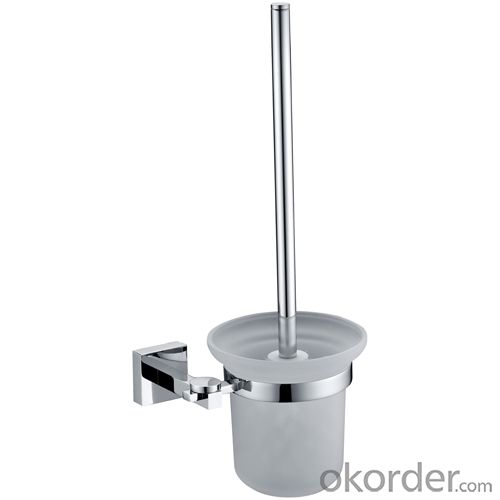 Exquisite Decorative Bathroom Accessories Solid Brass Toilet Brush Holder
