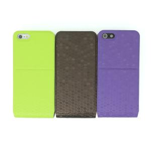 Luxury PU Leather Flip Case Cover for iPhone5/5S Green