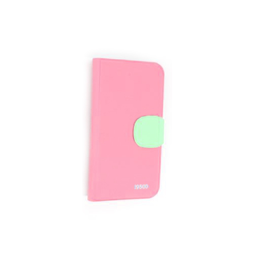 Hot Sale Wallet Pouch Luxury PU Stand Leather Case Cover for Samsung Galaxy S4 (I9500) Pink