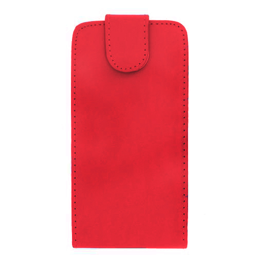 Luxury PU Leather Flip Case Cover for Samsung Galaxy S4 (I9500) Red