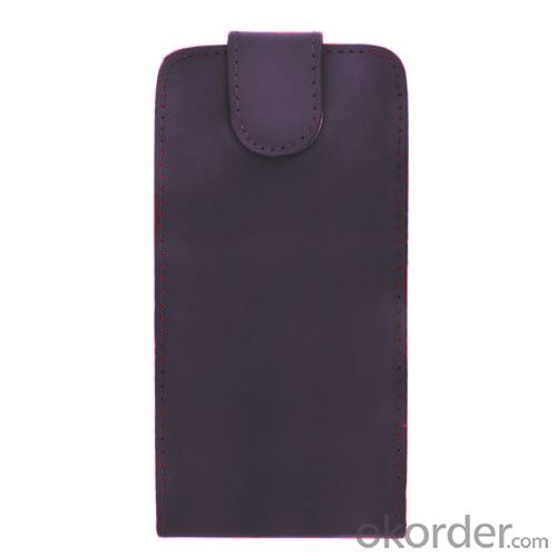 Luxury PU Leather Flip Case Cover for Samsung Galaxy S4 (I9500) Purple
