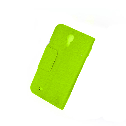 Front Hollow Luxury PU Leather Case Cover for Samsung Galaxy S4 (I9500) Green