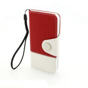 Wallet Pouch Stand Case Cover for iPhone5/5S Tree Pattern PU Leather Red