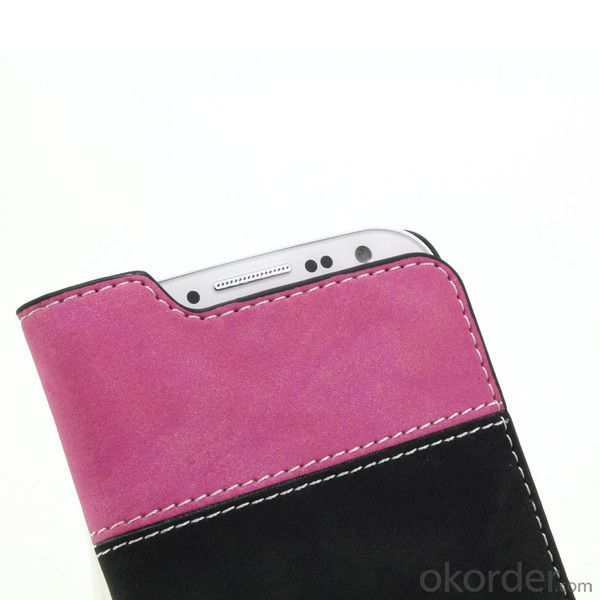 For Samsung Galaxy S4 I9500 Contrast Color Fashion Lady Wallet Case Pouch Retro Leather Cover With Credit ID Card Slot