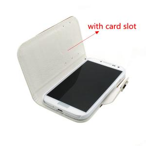 2014 New Luxury For Samsung Galaxy S4 I9500 Wallet Flip Cover Case With Money Credit Card Slot Holder Stand Red