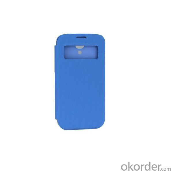 2014 New For Samsung Galaxy S4 I9500 S View Flip Case Back Battery Cover Auto Sleep Wake Blue