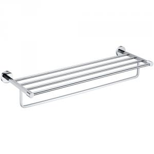 Hardware House Brass Bathroom Shelf With Towel Bar