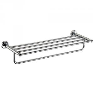 Exquisite Bathroom Accessories Solid Brass Bathroom Shelf With Towel Bar,Towel Rack