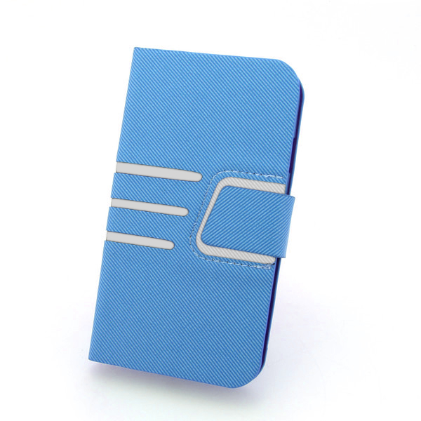 2014 Newest For Samsung Galaxy S4 I9500 Fashion Wallet Case With ID Credit Card Slot Holder Blue