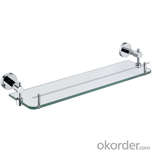 Hardware House Bathroom Accessories Solid Brass Glass Shelf
