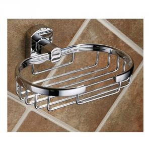 Fashion House Decorative Exquisite Bathroom Accessories Solid Brass Soap Basket