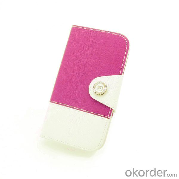 For Samsung Galaxy S4 I9500 2014 Fashion Lady Wallet Cover Case Pouch With Magnetic Flap Lanyard Card Slot Holder Pink