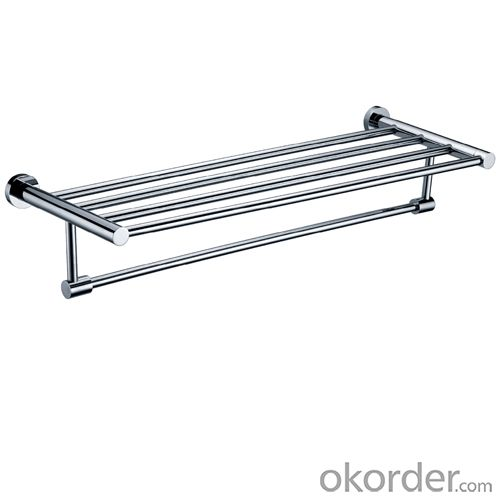 Decorative Solid Brass Bathroom Accessories Bathroom Shelf With Towel Bar