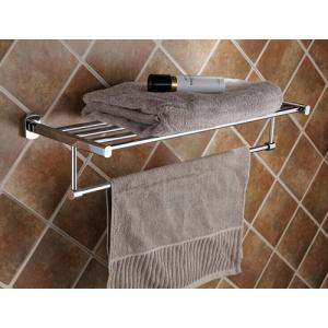 Decorative Solid Brass Bathroom Accessories Bathroom Shelf With Towel Bar