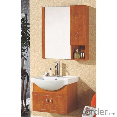 Wholesale Antique Oak Mirror Cabinet High End Washing Hand Basin Cabinet Luxury Pvc Bathroom Cabinet