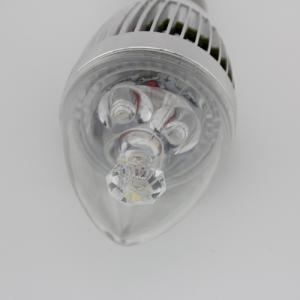 LED Candle Bulb High Quality Silver Aluminum 3x1W E14 180lm  85-265V LED Global Bulb Light Spotlight Downlight