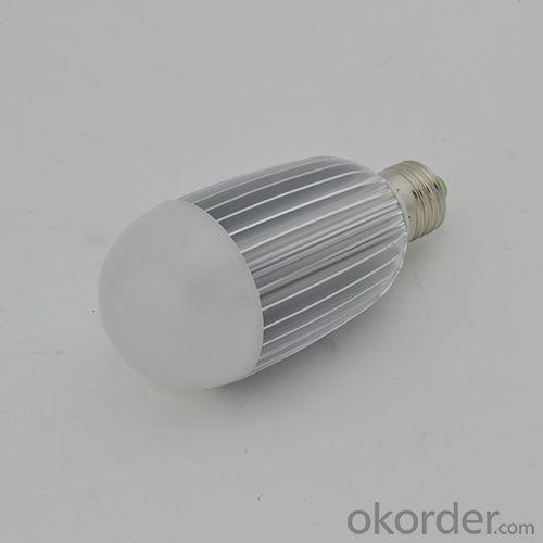 LED Dimmable Bulb PC Cover Aluminum 9W E27