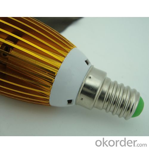 LED Candle Bulb High Quality Gloden Aluminum 3x1W E14 180lm  85-265V LED Global Bulb Light Spotlight Downlight