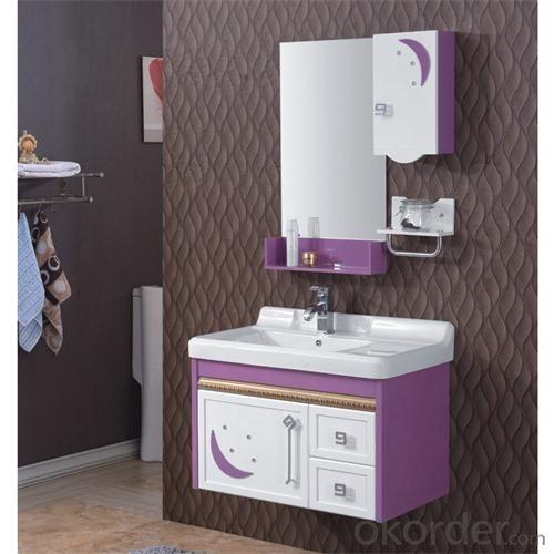 Espresso Modern PVC Bathroom Cabinet