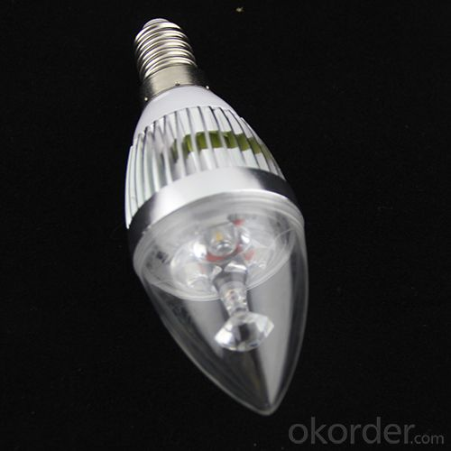 LED Candle High Quality Silver Aluminum 4x1W E14 180lm 85 to 265V LED Candle Bulb Light Spotlight Downlight