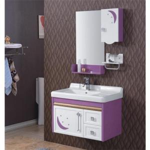 High Quality Classical Modern Purple Ceramic Top Bath Mirror Cabinet