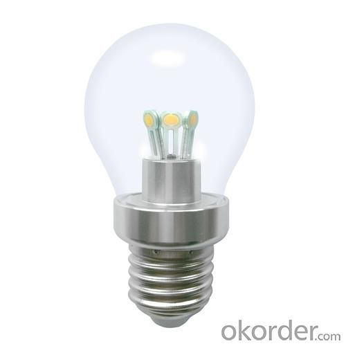 Dimmable LED Globe Bulb G40 3W Ra85 180lm 85-265V E14/E27/B15 COB LED Chip Clear/Frosted/Milky Glass Cover