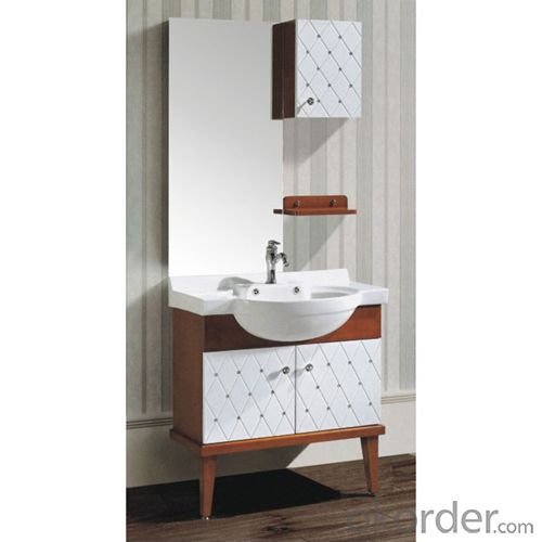 Large Capacity Oak Bath Cabinet Bath Vanity