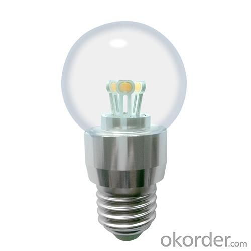 Dimmable LED Globe Bulb A50 3W Ra85 180lm 85-265V E26/E27/B22 COB LED Chip Clear/Frosted/Milky Glass Cover