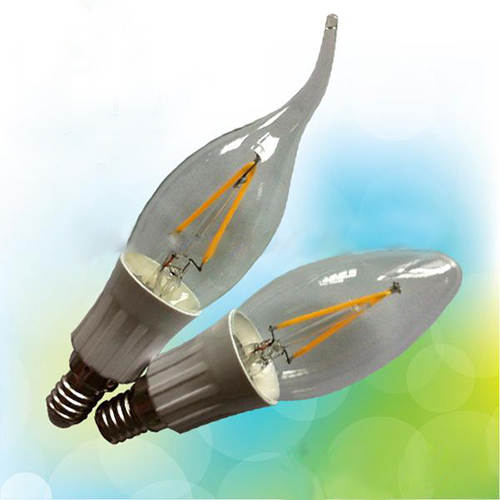LED Filament Lamp 360°Bent-tip Candle Bulb E14 3W AC110V/220V 300-330lm Warm White/White