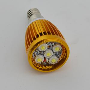 Hot Sale Dimmable LED Bent-tip Bulb Gloden Aluminum 5x1W E14 180lm LED Candle Bulb Light