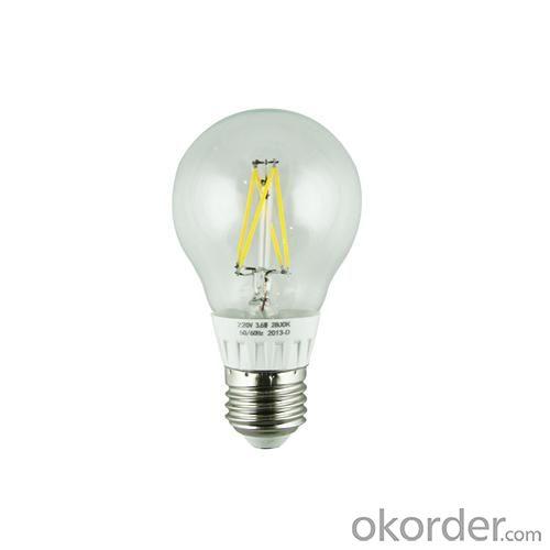 LED Filament Lamp 360°Globe Bulb E27 A60 3.6W AC110V/220V 360-380lm Warm White/White