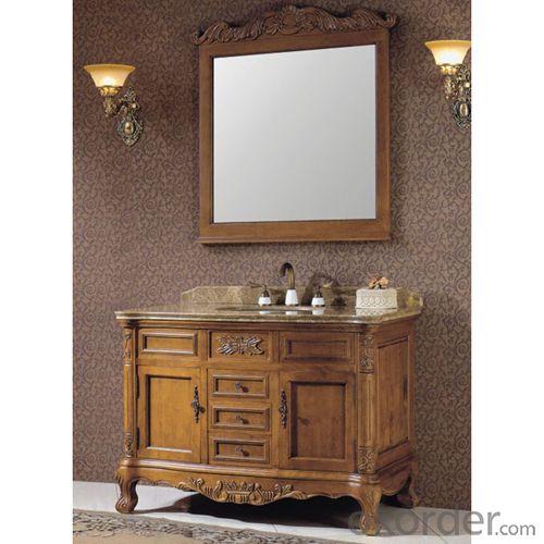 High End Oak Bath Cabinet Bathroom Vanity