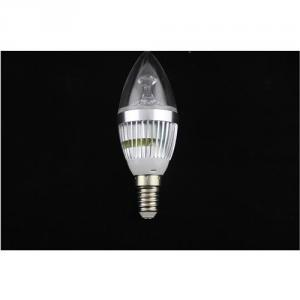 Dimmable LED Candle Bulb High Quality Silver Aluminum 3x1W E14 180lm LED Global Bulb Light