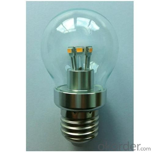 G50 3W LED Globe Bulb 180lm 85-265V E12/E14/E26/E27/B15/B22 SMD LED Chip Clear/Frosted/Milky Glass Cover