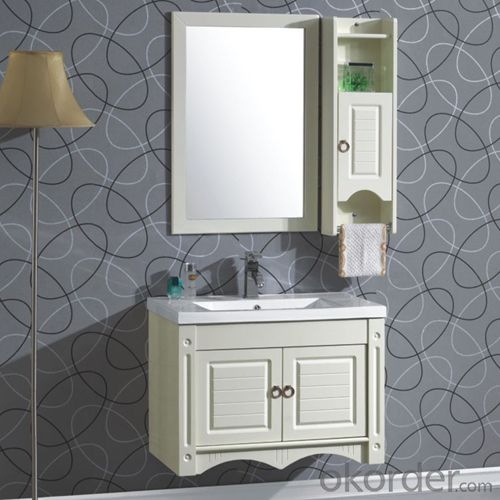 High Top White Bath Vanity Mirror Cabinet