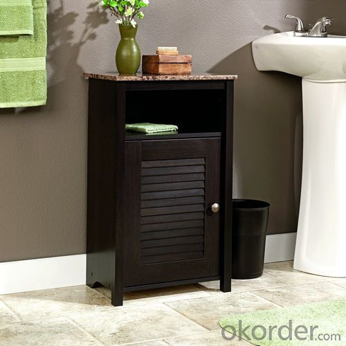 High End White Space Saver Bath Storage Bath Cabinet