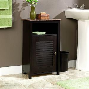 High End White Space Saver Bath Storage Bath Cabinet