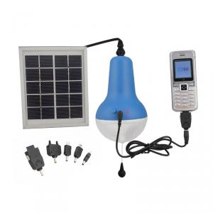 China Factory Ultra Bright Solar Lamp Indoor Solar Lights Rechargeable Battery 2200mah 150lm 5V Blue