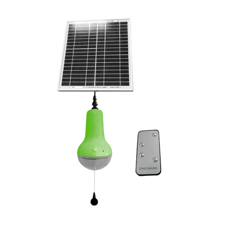 High Quality Remote Control Solar Lamp 5m Control Range Rechargeable Solar LED Bulb By China Manufacturer (Green)