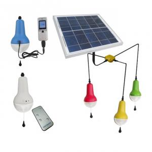 China Best Quality Rechargeable Solar Light Lithium Battery 220lm Solar Lighting Indoor ISO9001 CE ROHS Warranty Red