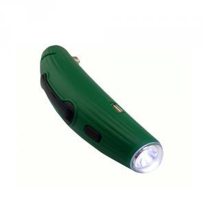 Cucumber Dynamo Torch / Dynamo Flashlight With Emergency Hammer