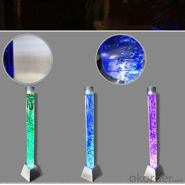 2014 Decorative Circular Led Lighted Water Bubble Columns Interior For Holiday Decor