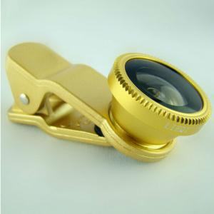 Gold Universal 3 In 1 Clip On Mobile Phone Lens
