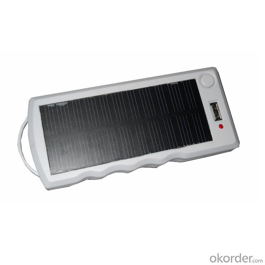 China Manufacture Newest Solar Reading Light With 5V USB Charge Solar Mobile Power Station White